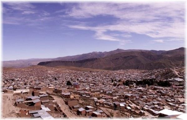 ... Potosi, ein Blick über die Stadt