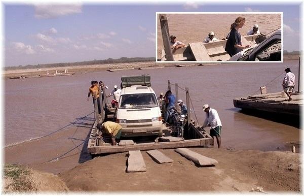 ... auf dem Weg von Santa Cruz zu den Missionen, am Rio Grande